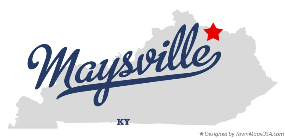 Map of Maysville Kentucky KY