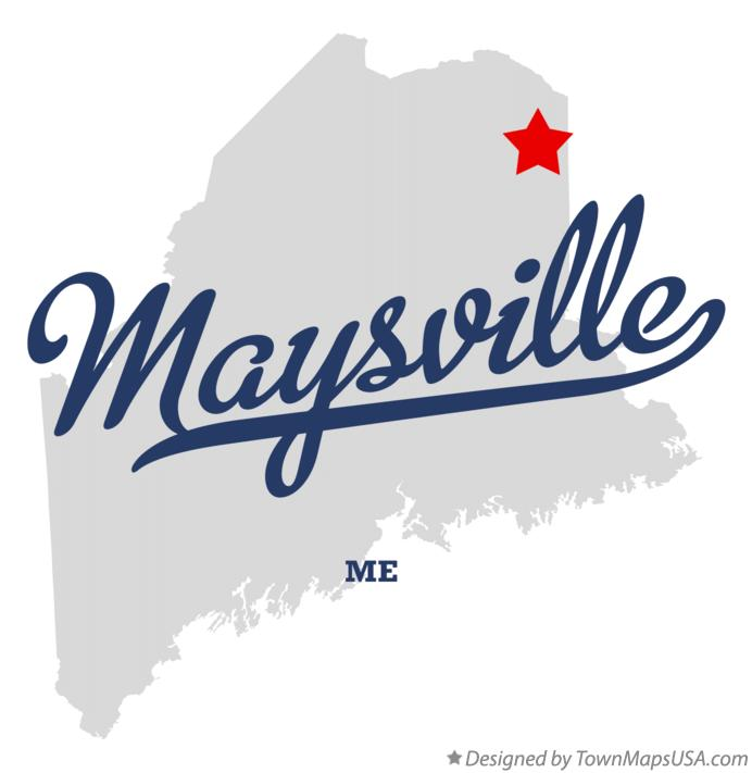 Map of Maysville Maine ME