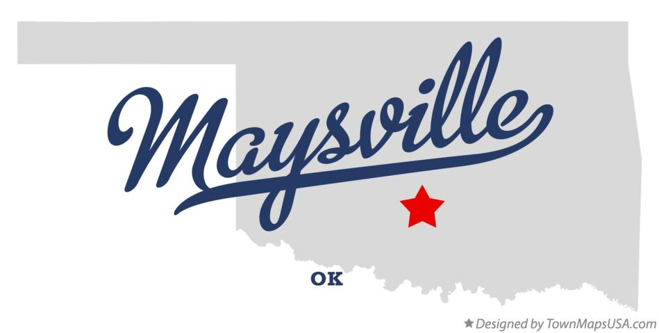 Map of Maysville Oklahoma OK
