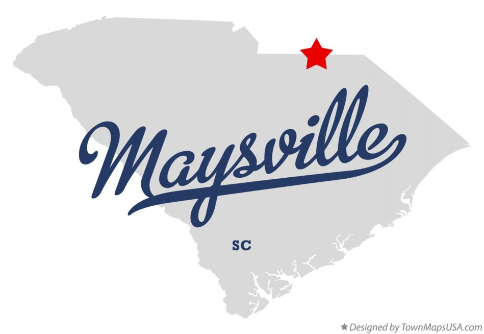 Map of Maysville South Carolina SC