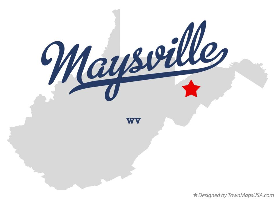 Map of Maysville West Virginia WV