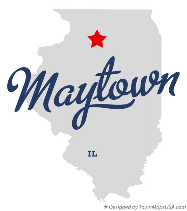 Map of Maytown Illinois IL