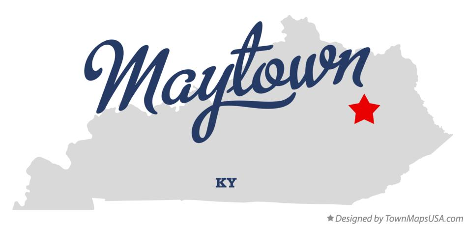 Map of Maytown Kentucky KY