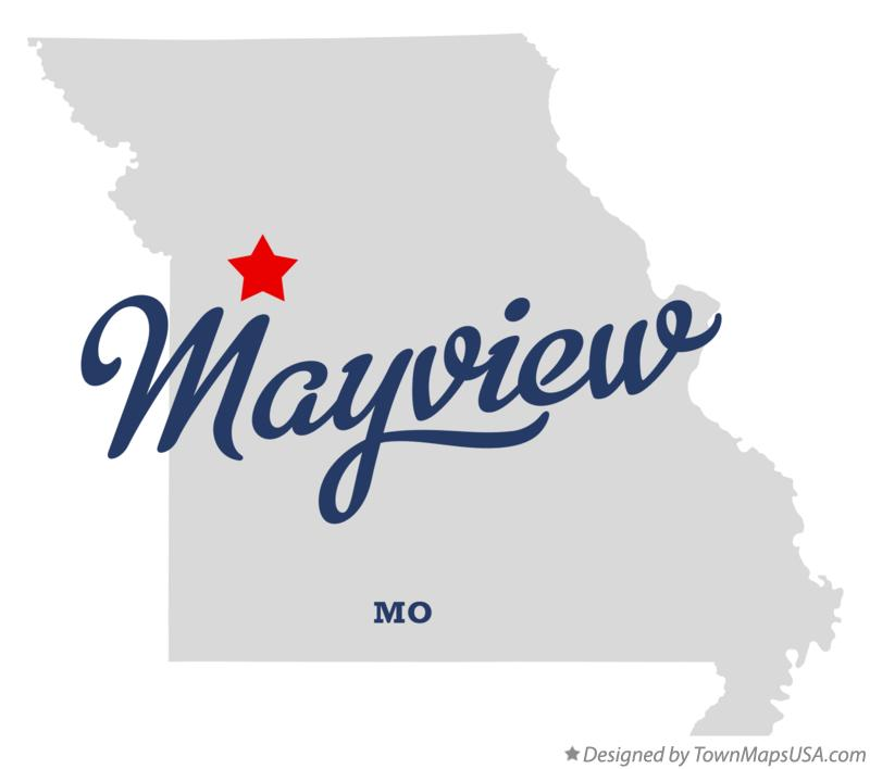 Map of Mayview Missouri MO