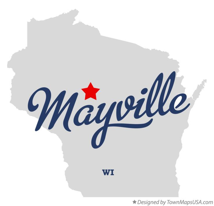 Map of Mayville Wisconsin WI