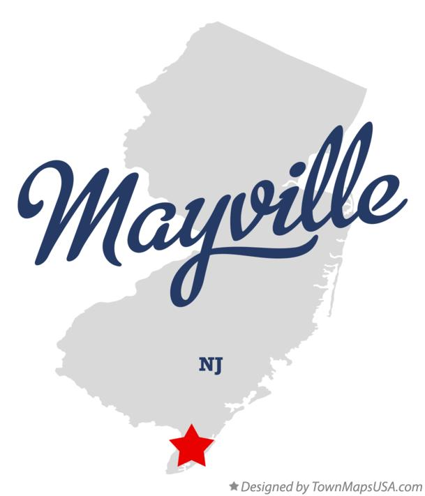 Map of Mayville New Jersey NJ