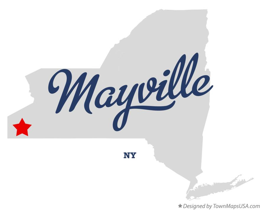 Map of Mayville New York NY