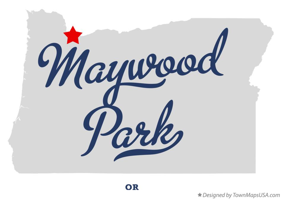 Map of Maywood Park Oregon OR