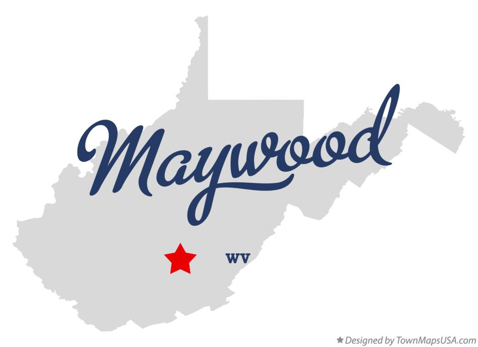 Map of Maywood West Virginia WV