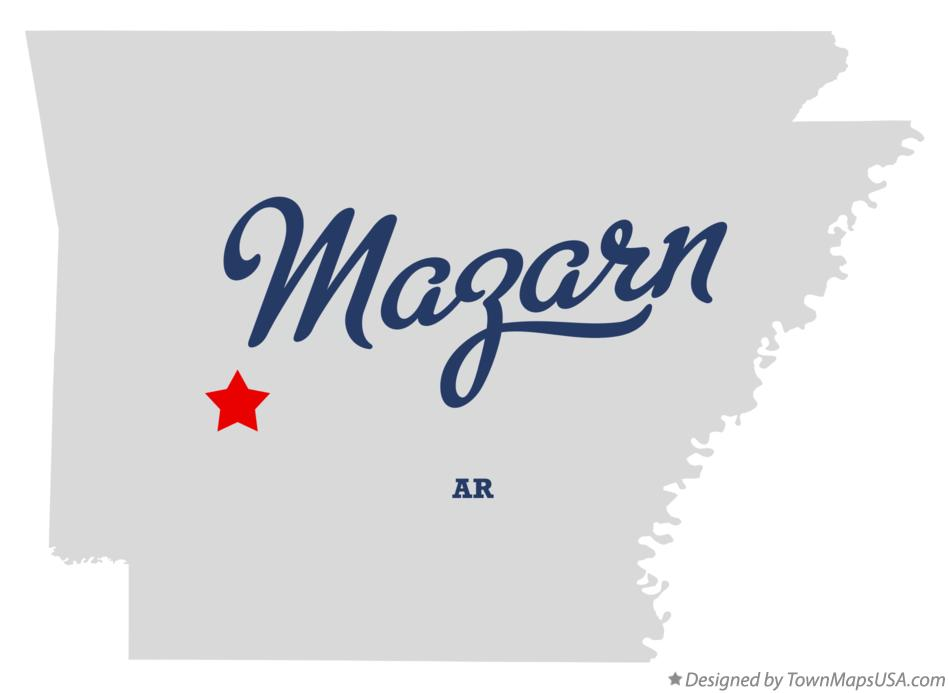 Map of Mazarn Arkansas AR
