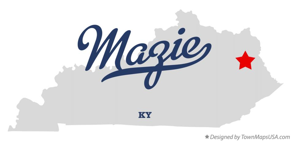 Map of Mazie Kentucky KY