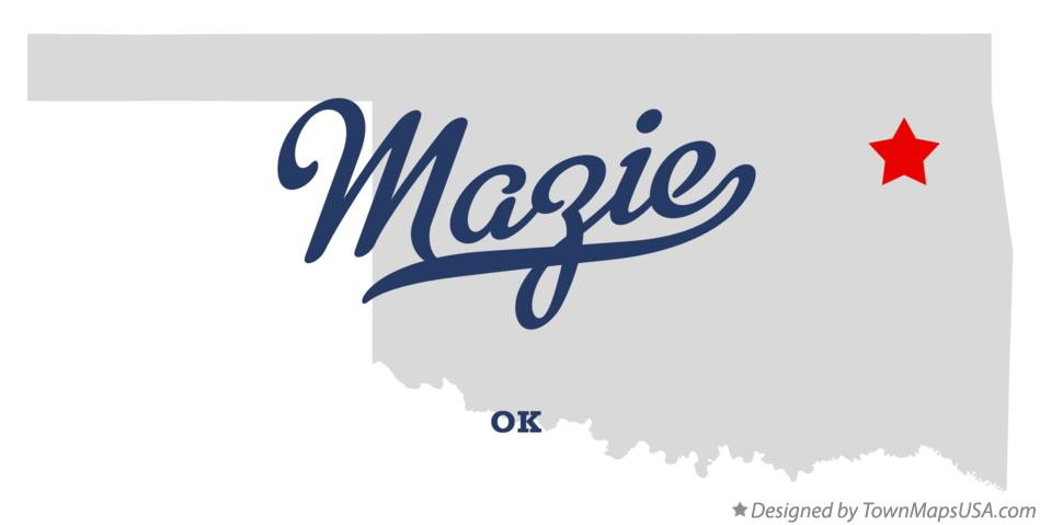 Map of Mazie Oklahoma OK