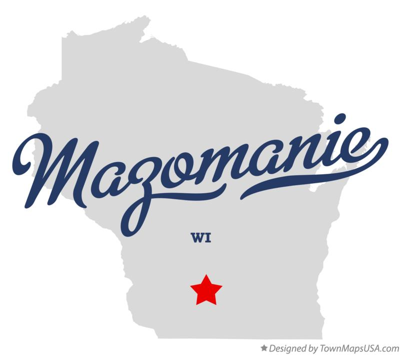 Map of Mazomanie Wisconsin WI
