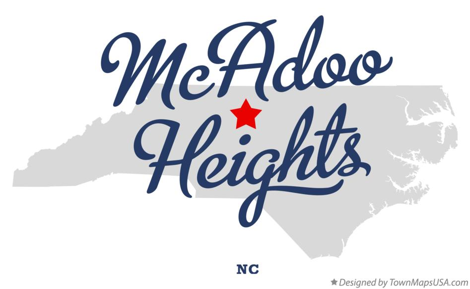 Map of McAdoo Heights North Carolina NC