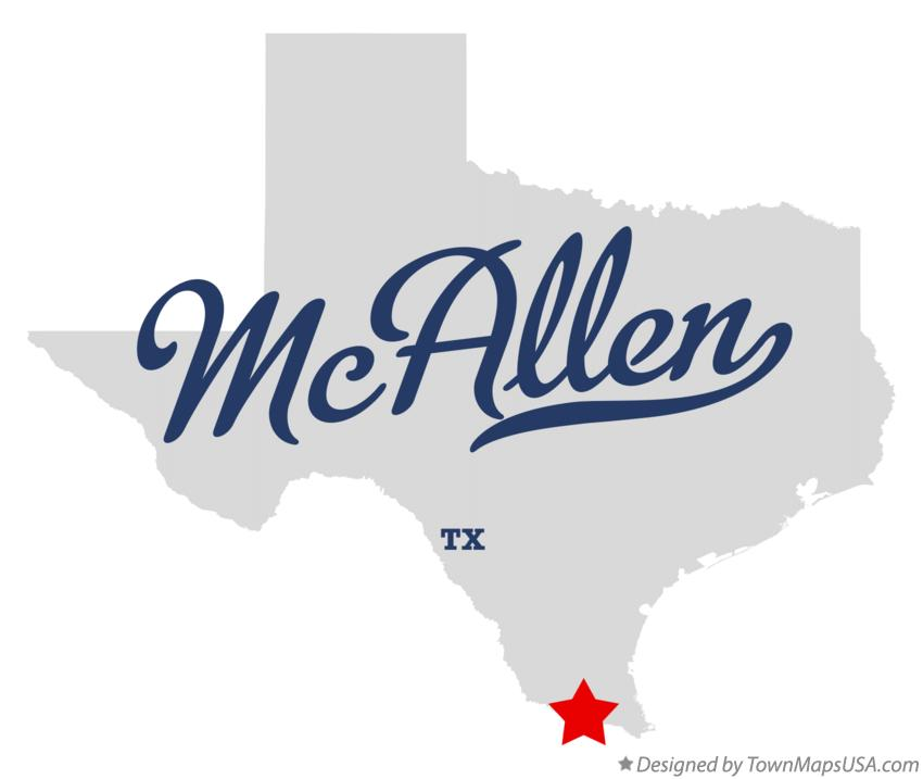 Map of McAllen TX Texas