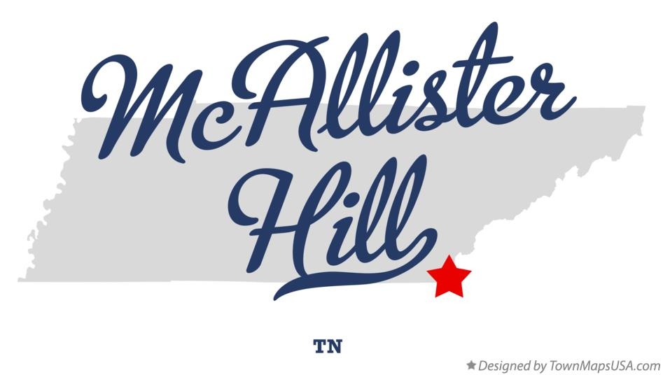Map of McAllister Hill Tennessee TN
