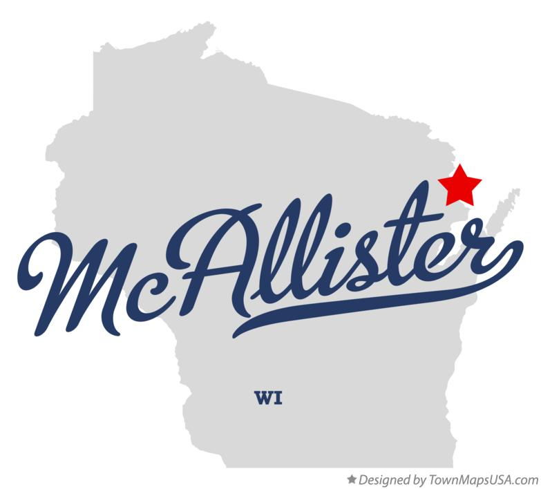 Map of McAllister Wisconsin WI