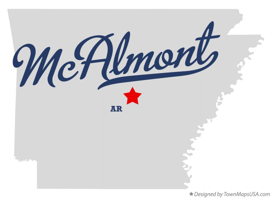 Map of McAlmont Arkansas AR