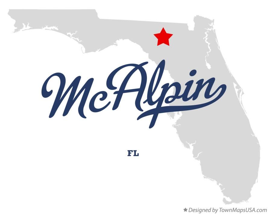Map of McAlpin Florida FL