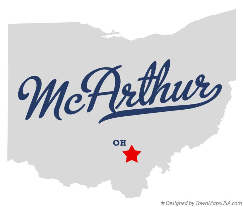 Map of McArthur Ohio OH