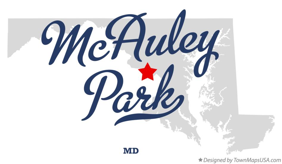 Map of McAuley Park Maryland MD