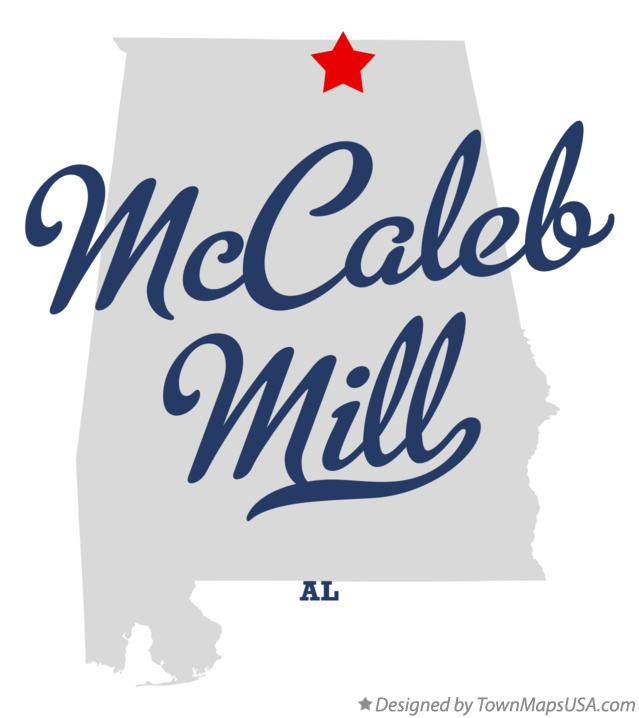 Map of McCaleb Mill Alabama AL