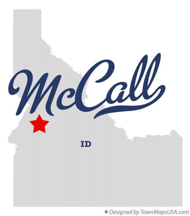 Map Of Mccall Id Idaho