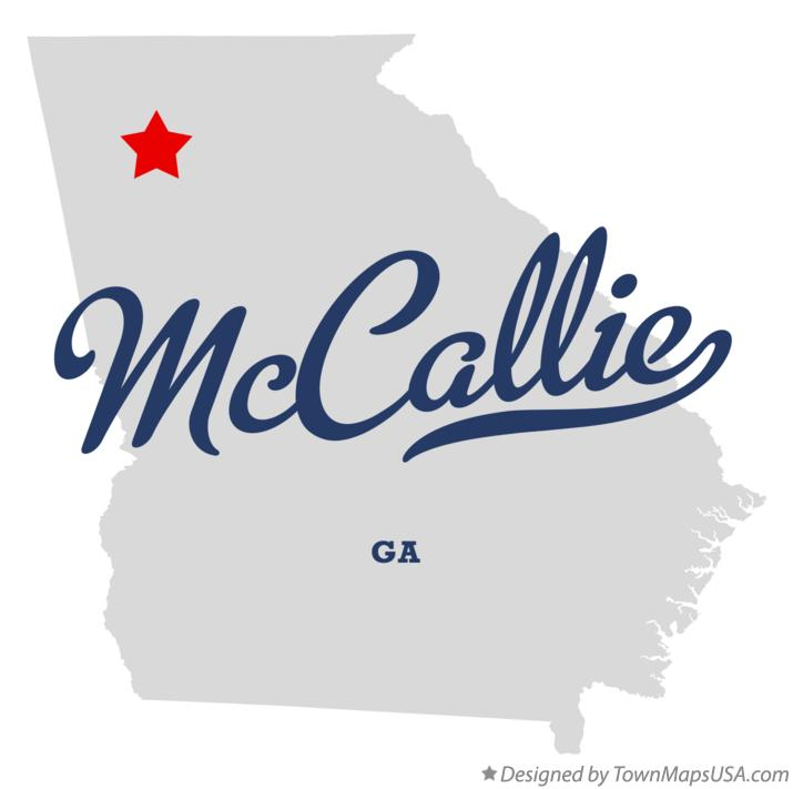 Map of McCallie Georgia GA