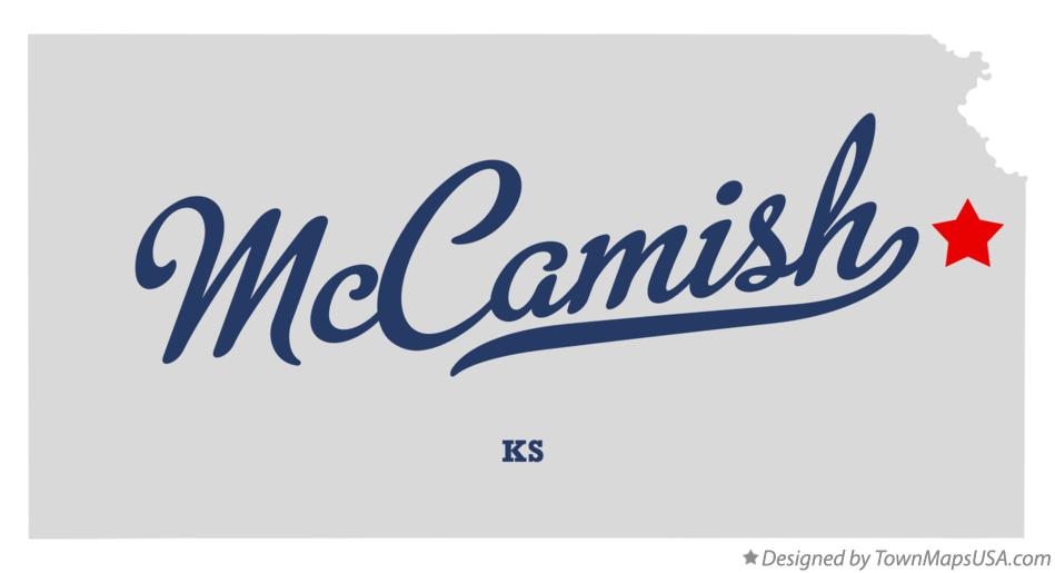 Map of McCamish Kansas KS