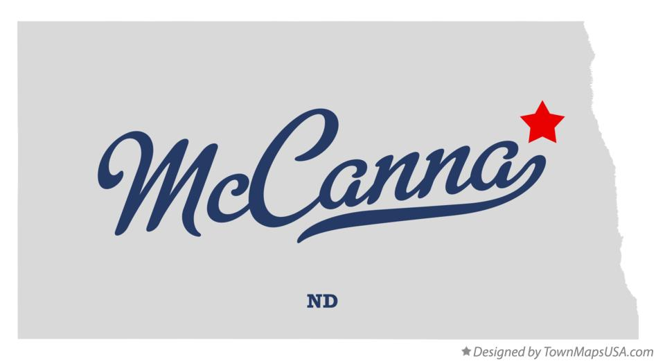 Map of McCanna North Dakota ND