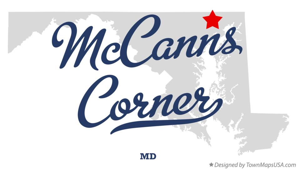 Map of McCanns Corner Maryland MD