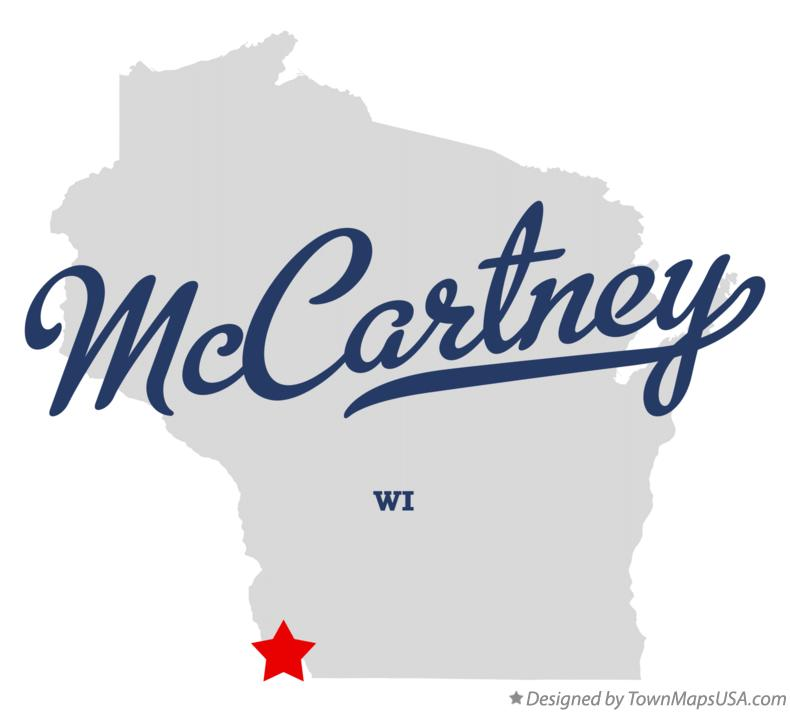 Map of McCartney Wisconsin WI