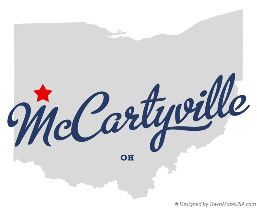 Map of McCartyville Ohio OH