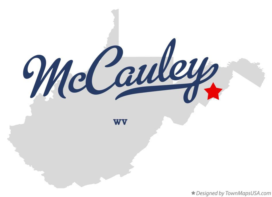 Map of McCauley West Virginia WV