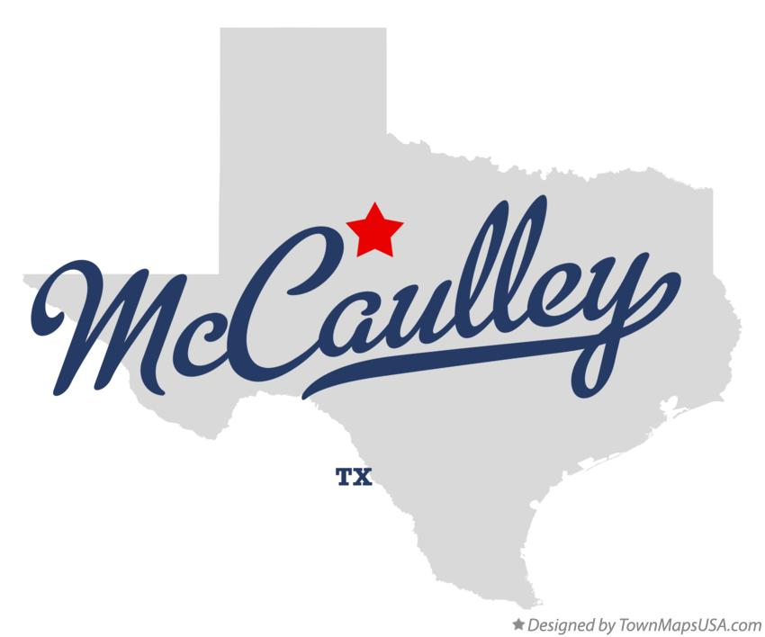 Map of McCaulley Texas TX