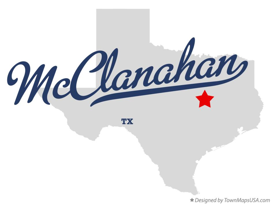 Map of McClanahan Texas TX