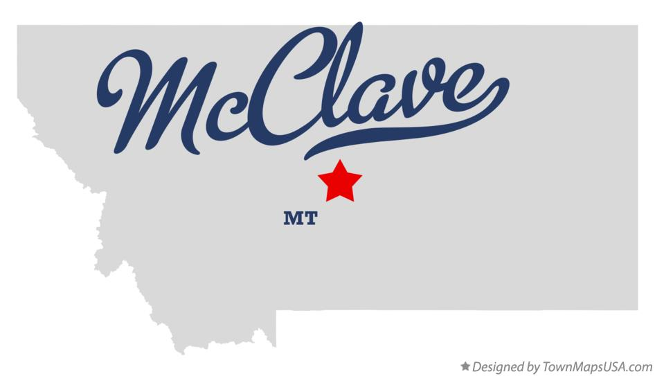 Map of McClave Montana MT