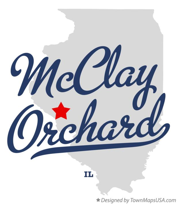 Map of McClay Orchard Illinois IL