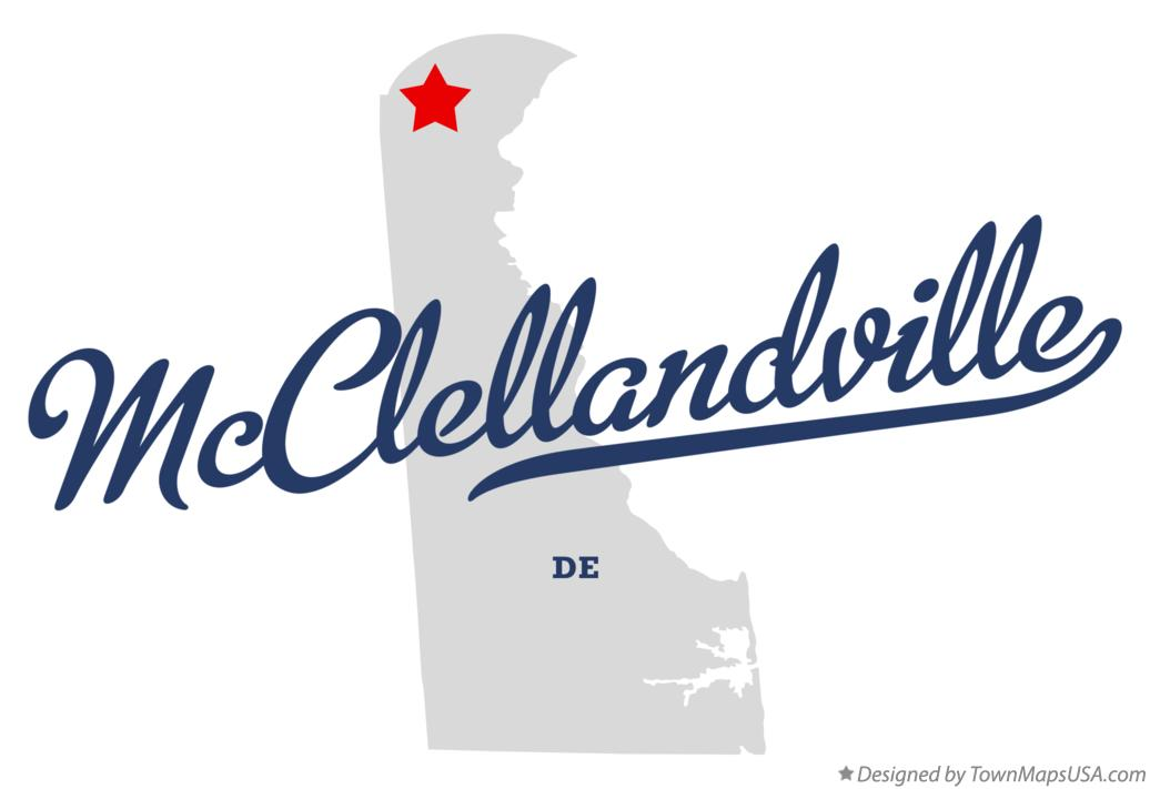 Map of McClellandville Delaware DE