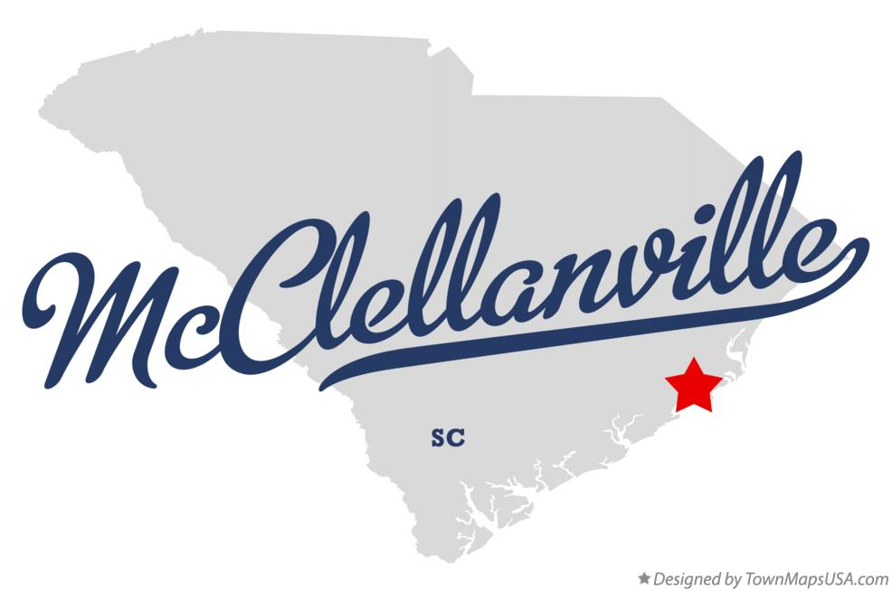 Map of McClellanville South Carolina SC