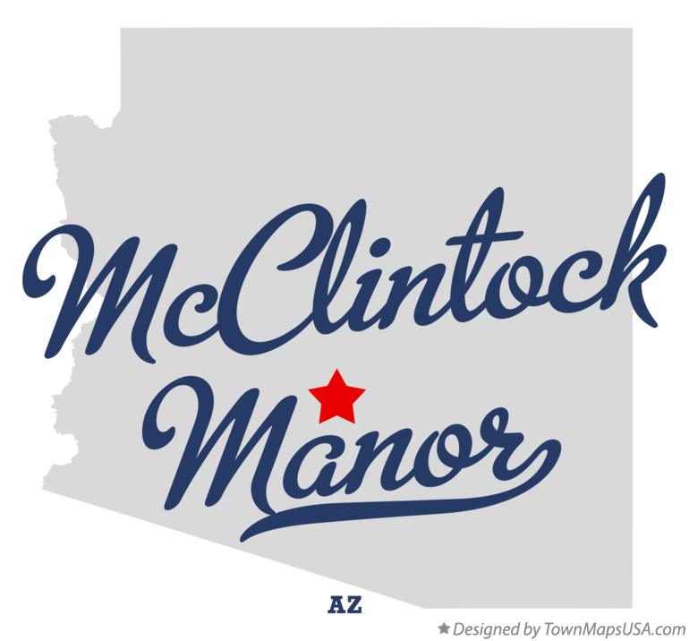Map of McClintock Manor Arizona AZ