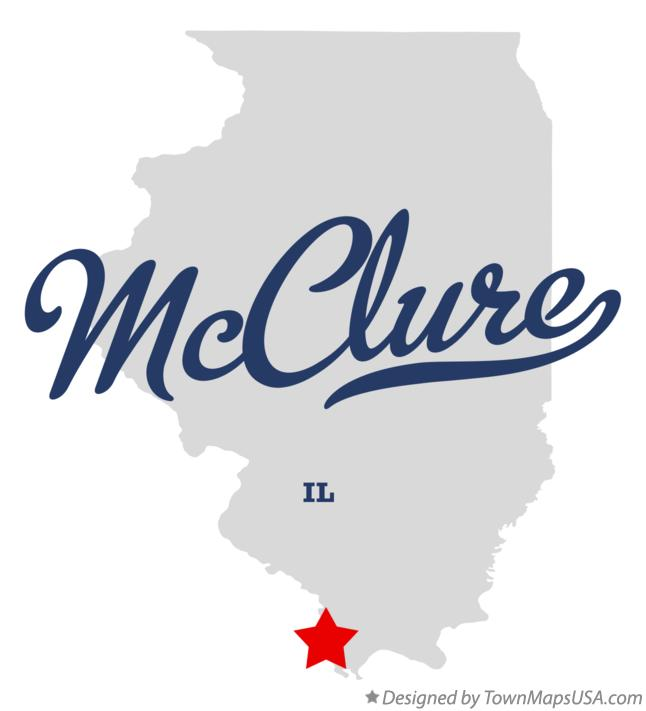 Map of McClure Illinois IL