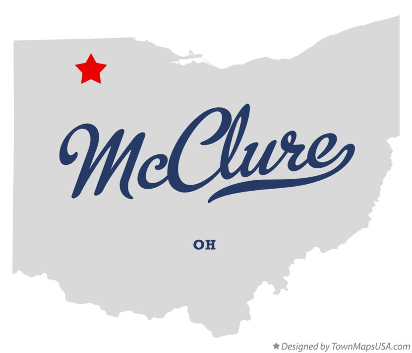 Map of McClure Ohio OH