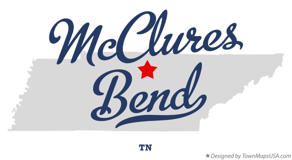 Map of McClures Bend Tennessee TN