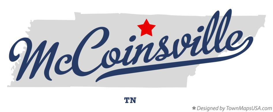 Map of McCoinsville Tennessee TN