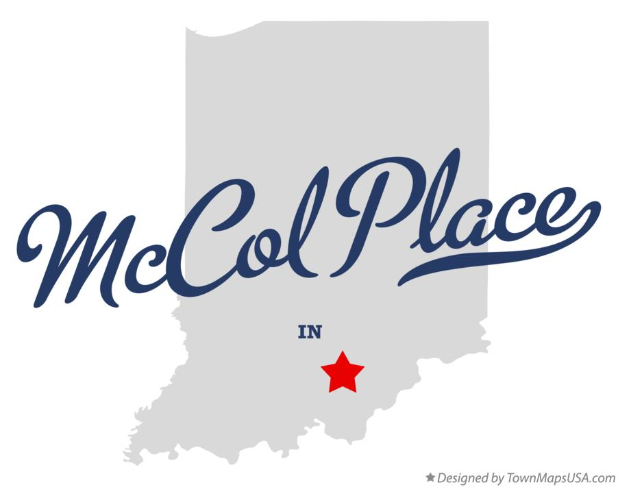 Map of McCol Place Indiana IN