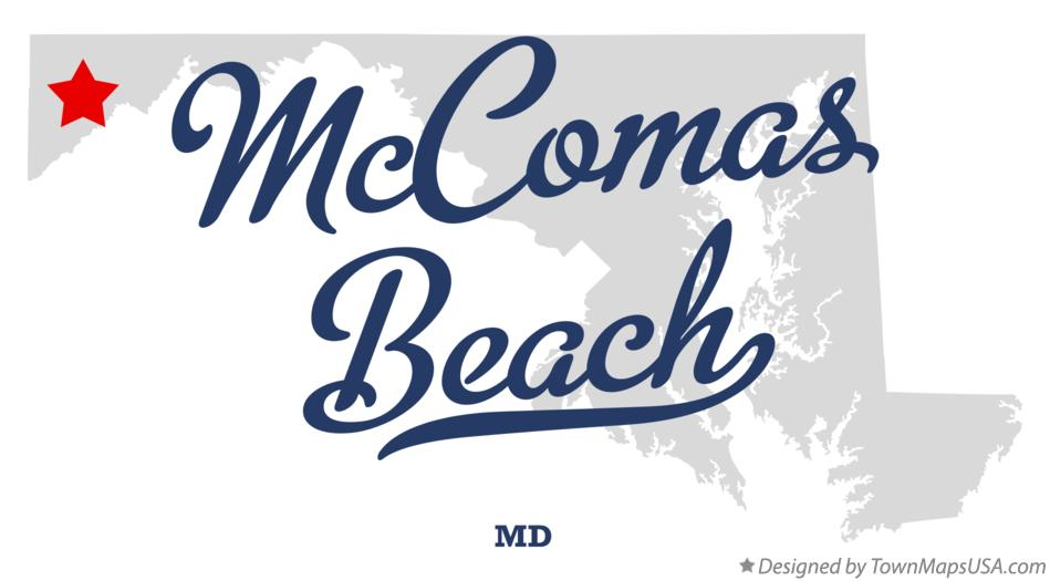 Map of McComas Beach Maryland MD
