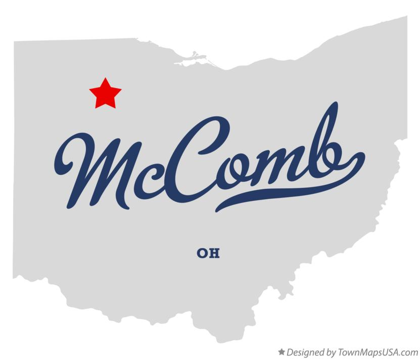 Map of McComb Ohio OH