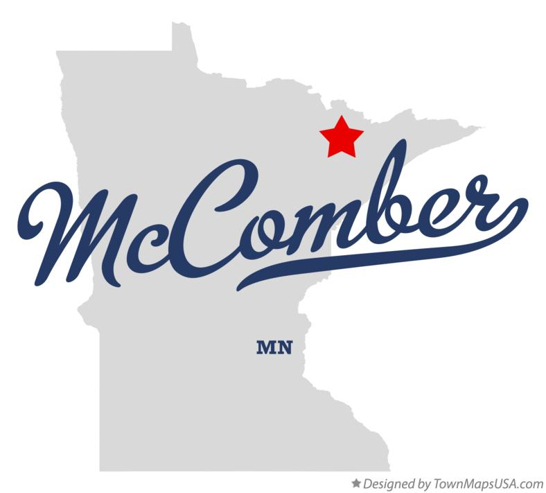 Map of McComber Minnesota MN