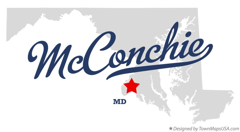 Map of McConchie Maryland MD
